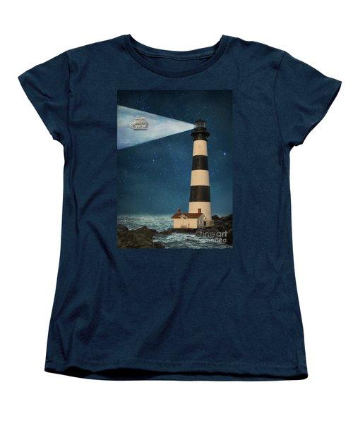 Women's T-Shirt (Standard Cut) featuring the photograph The Guiding Light by Juli Scalzi
