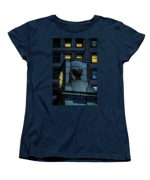 Women's T-Shirt (Standard Cut) featuring the photograph The Herald Square Owl by Chris Lord
