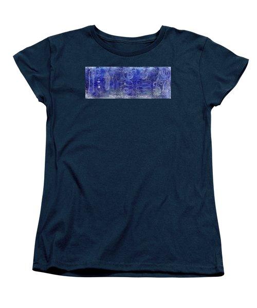 The History Of Baseball Patents Blue Women's T-Shirt (Standard Cut) by Jon Neidert