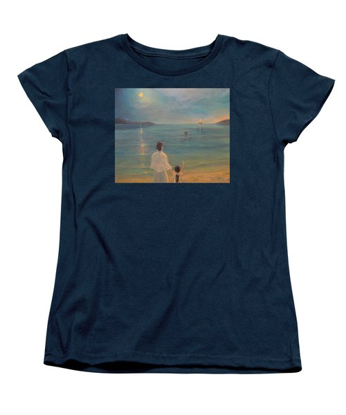 Women's T-Shirt (Standard Cut) featuring the painting The Homecoming by Donna Tucker