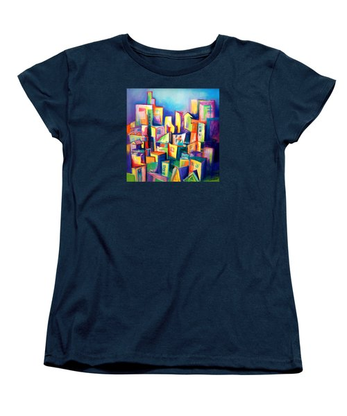 The Houses Women's T-Shirt (Standard Cut) by Kim Gauge