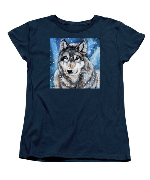 Women's T-Shirt (Standard Cut) featuring the painting The Hunter by Igor Postash