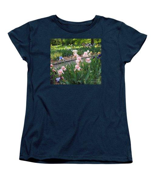 The Iris Garden Women's T-Shirt (Standard Cut) by Nancy Kane Chapman