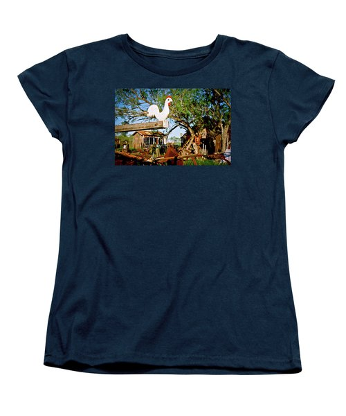 Women's T-Shirt (Standard Cut) featuring the photograph The Iron Chicken by Linda Unger