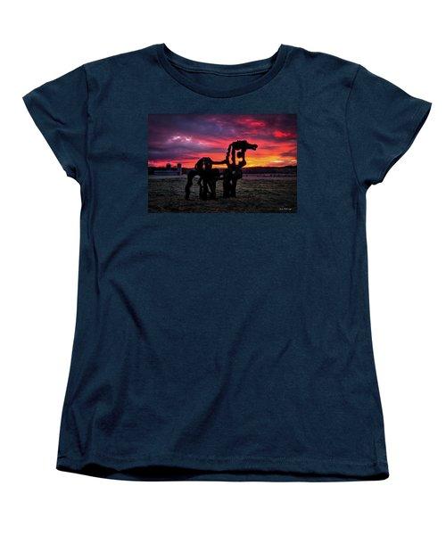 The Iron Horse Sun Up Women's T-Shirt (Standard Cut) by Reid Callaway