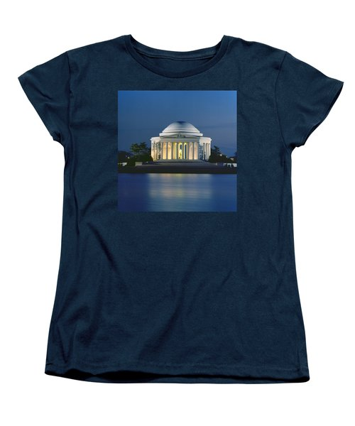 The Jefferson Memorial Women's T-Shirt (Standard Cut) by Peter Newark American Pictures