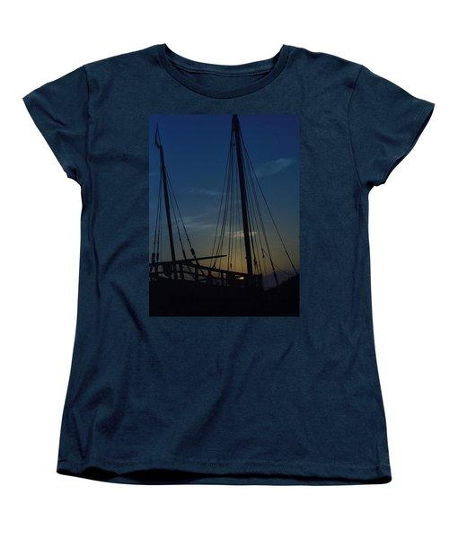 Women's T-Shirt (Standard Cut) featuring the photograph The Journey Began by John Glass