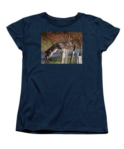 The Jumper Women's T-Shirt (Standard Cut) by Douglas Stucky