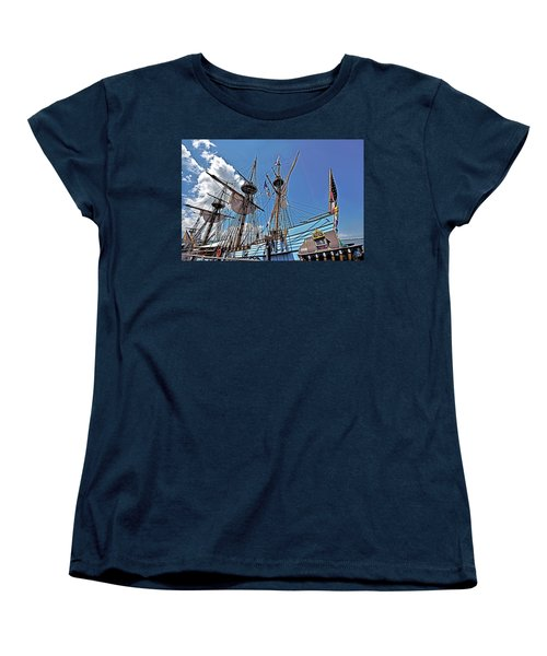Women's T-Shirt (Standard Cut) featuring the photograph The Kalmar Nyckel - Delaware by Brendan Reals