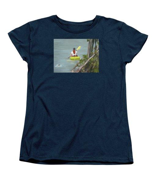 The Kayaker Women's T-Shirt (Standard Cut) by Rosalie Scanlon