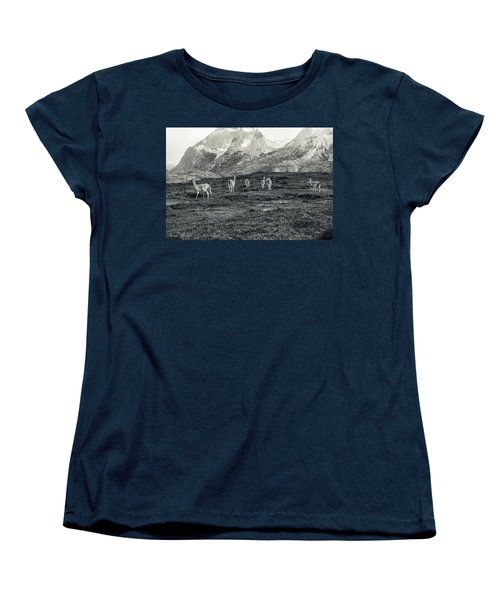 Women's T-Shirt (Standard Cut) featuring the photograph The Lamas by Andrew Matwijec