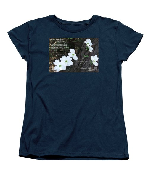 The Legend Of The Dogwood Women's T-Shirt (Standard Cut) by Andrea Anderegg