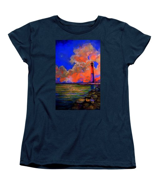 Women's T-Shirt (Standard Cut) featuring the painting The Light by Emery Franklin