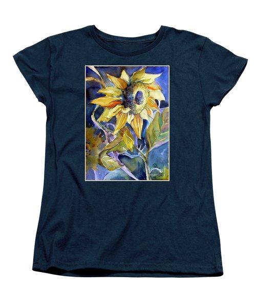 The Light Of Sunflowers Women's T-Shirt (Standard Cut) by Mindy Newman