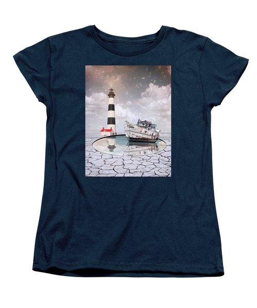 Women's T-Shirt (Standard Cut) featuring the photograph The Lighthouse by Juli Scalzi