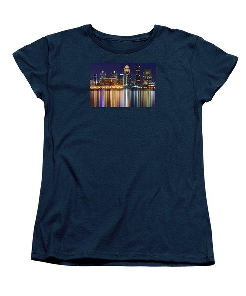 The Lights Of A Louisville Night Women's T-Shirt (Standard Cut) by Frozen in Time Fine Art Photography