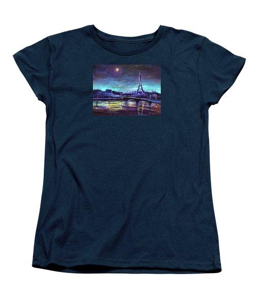 The Lights Of Paris Women's T-Shirt (Standard Cut) by Randy Burns