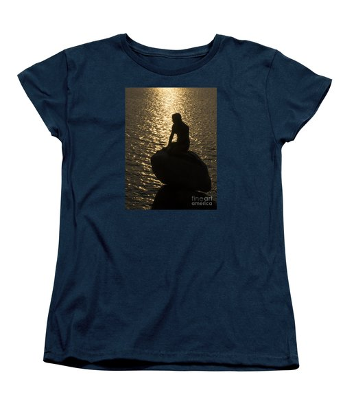 Women's T-Shirt (Standard Cut) featuring the photograph The Little Mermaid by Inge Riis McDonald
