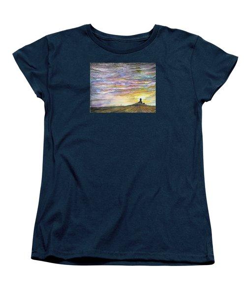 The Living Sky Women's T-Shirt (Standard Cut) by Darren Cannell