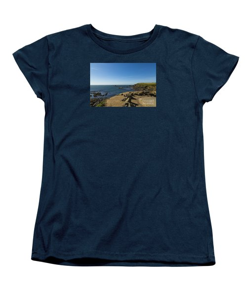 Women's T-Shirt (Standard Cut) featuring the photograph The Lizard Point by Brian Roscorla