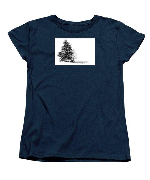 The Lone Pine Women's T-Shirt (Standard Cut) by Jim Rossol