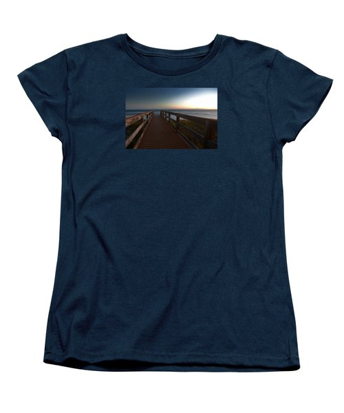 Women's T-Shirt (Standard Cut) featuring the photograph The Long Walk Home by Renee Hardison