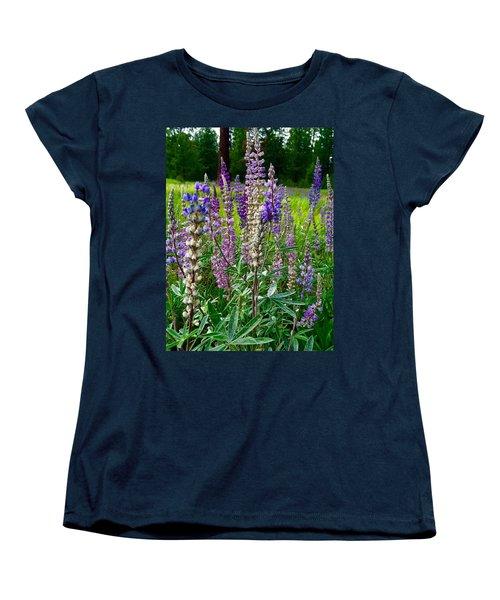 The Lupine Crowd Women's T-Shirt (Standard Cut) by Jennifer Lake