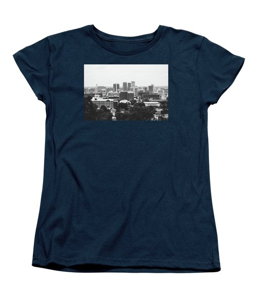 Women's T-Shirt (Standard Cut) featuring the photograph The Magic City In Monochrome by Shelby Young