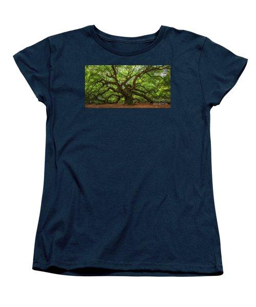 The Magical Angel Oak Tree Panorama  Women's T-Shirt (Standard Cut) by Michael Ver Sprill