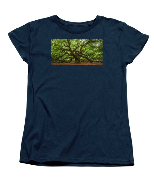 The Magical Angel Oak Tree Panorama  Women's T-Shirt (Standard Cut)
