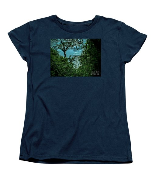 Women's T-Shirt (Standard Cut) featuring the photograph The Majestic Victoria Falls by Karen Lewis