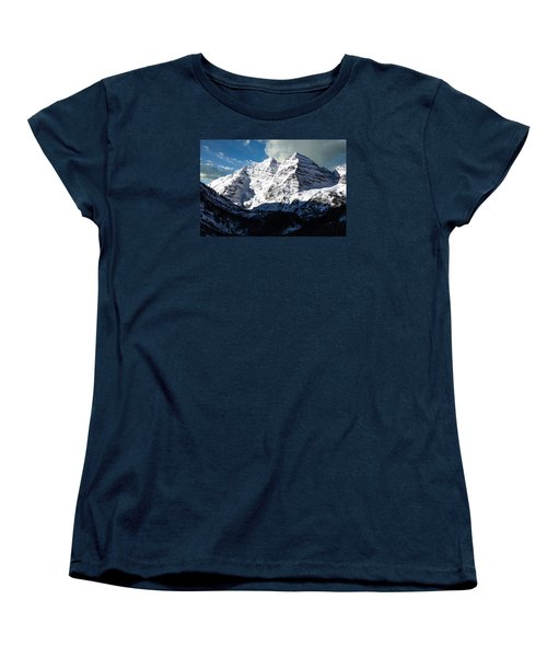 These Twin Peaks Outside Aspen Are Called The Maroon Bells  Women's T-Shirt (Standard Cut) by Carol M Highsmith