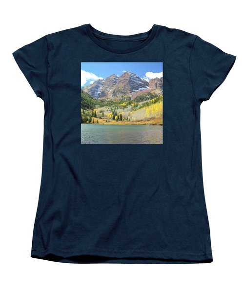The Maroon Bells 2 Women's T-Shirt (Standard Cut) by Eric Glaser