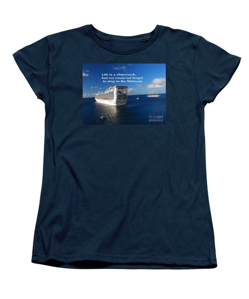 Women's T-Shirt (Standard Cut) featuring the photograph The Meaning Of Life by Gary Wonning