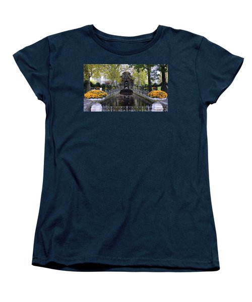 The Medici Fountain At The Jardin Du Luxembourg In Paris France. Women's T-Shirt (Standard Cut) by Richard Rosenshein