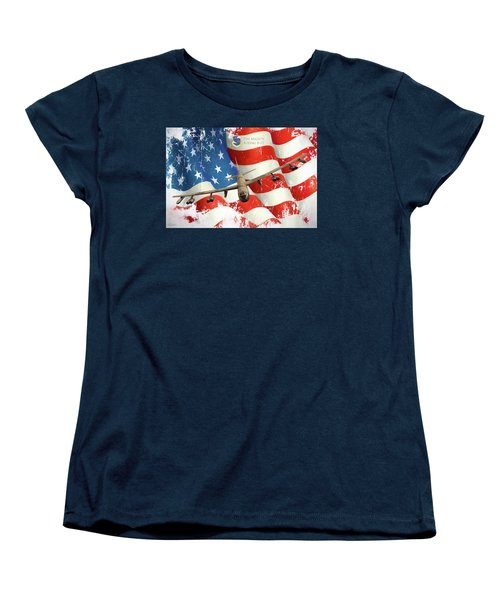 The Mighty B-52 Women's T-Shirt (Standard Cut) by Peter Chilelli