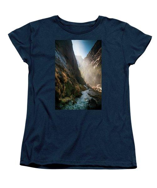 The Mist Trail Women's T-Shirt (Standard Cut) by Ralph Vazquez