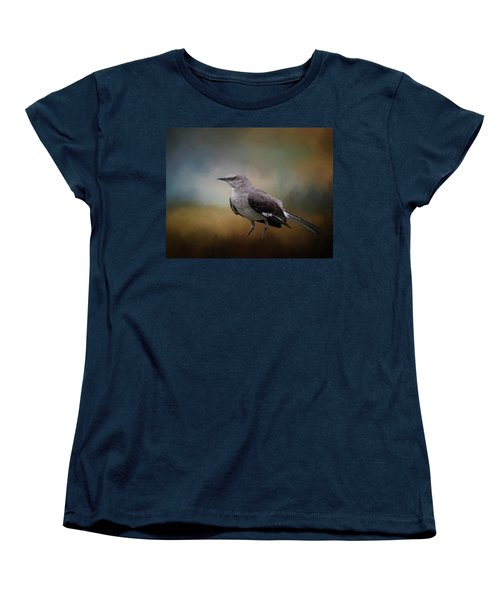 Women's T-Shirt (Standard Cut) featuring the photograph The Mockingbird A Bird Of Many Songs by David and Carol Kelly