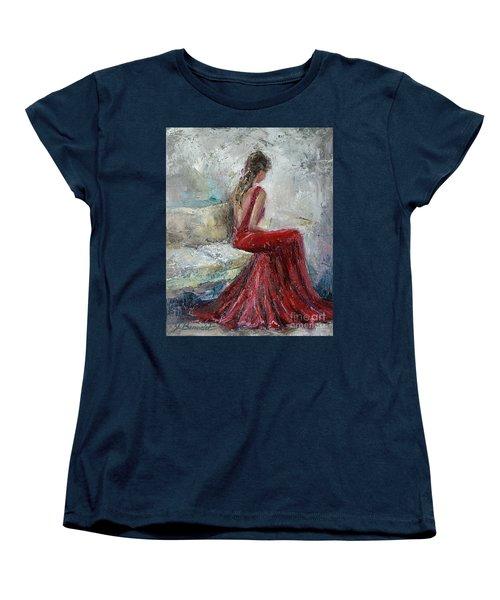 Women's T-Shirt (Standard Cut) featuring the painting The Moment by Jennifer Beaudet