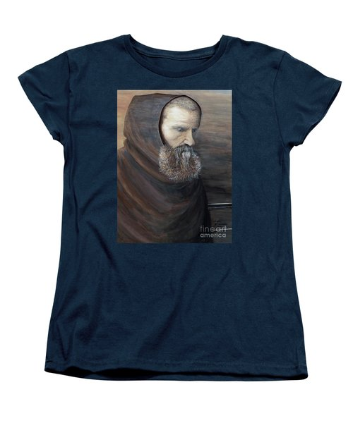 Women's T-Shirt (Standard Cut) featuring the painting The Monk by Judy Kirouac