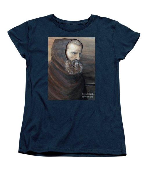The Monk Women's T-Shirt (Standard Cut) by Judy Kirouac