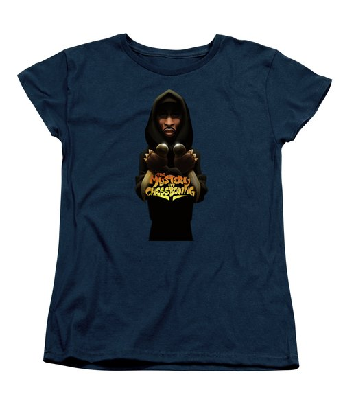 Women's T-Shirt (Standard Cut) featuring the digital art The Mystery Of Chessboxing by Nelson dedosGarcia