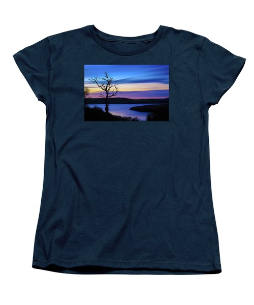 Women's T-Shirt (Standard Cut) featuring the photograph The Naked Tree At Sunrise by Semmick Photo