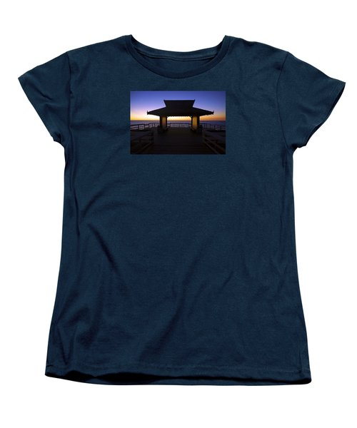 Women's T-Shirt (Standard Cut) featuring the photograph The Naples Pier At Twilight - 02 by Robb Stan