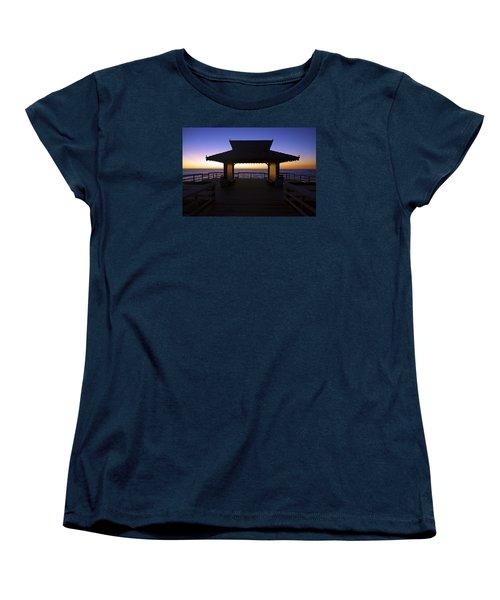 The Naples Pier At Twilight - 02 Women's T-Shirt (Standard Cut)