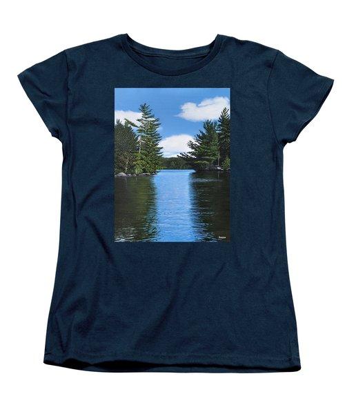 The Narrows Of Muskoka Women's T-Shirt (Standard Cut) by Kenneth M  Kirsch