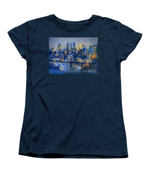 The Night City Women's T-Shirt (Standard Cut) by Nancy Kane Chapman