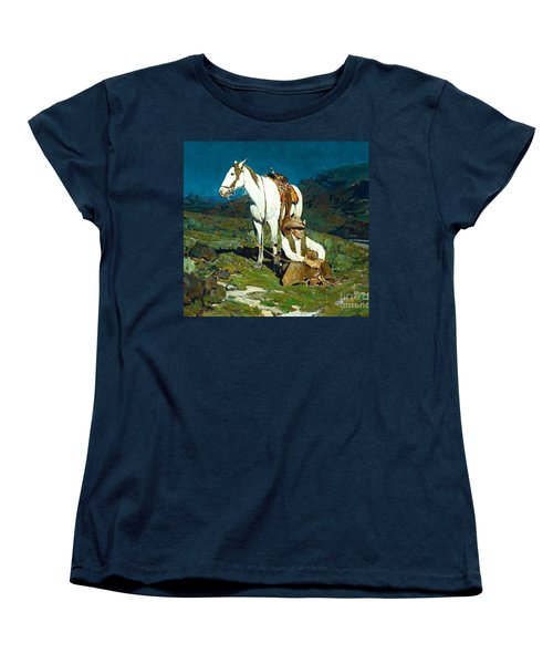 Women's T-Shirt (Standard Cut) featuring the painting The Night Hawk by Pg Reproductions
