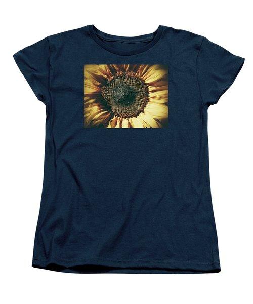 Women's T-Shirt (Standard Cut) featuring the photograph The Not So Sunny Sunflower by Karen Stahlros