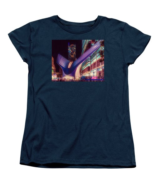 Women's T-Shirt (Standard Cut) featuring the photograph The Occulus At Midnight by Chris Lord